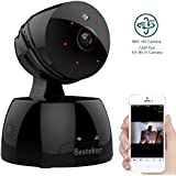 Security Camera, WiFi IP Camera, Besteker HD 720P Dome Camera, Security System Wireless Camera IR Night Vision Motion Detection, Two-Way Audio(Black)