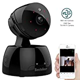 IP Wireless Camera, Besteker 720P Home Camera Pan/Tilt/Zoom Wireless Security Surveillance System Wifi Camera Home Monitor with Motion Detection Two-Way Audio Night Vision,Black