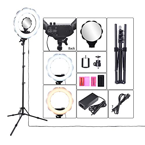 f20ac03e4 XHH- LED Ring Light Adjustable Color Temperature 3000-6000K Warm to Cold  Color with