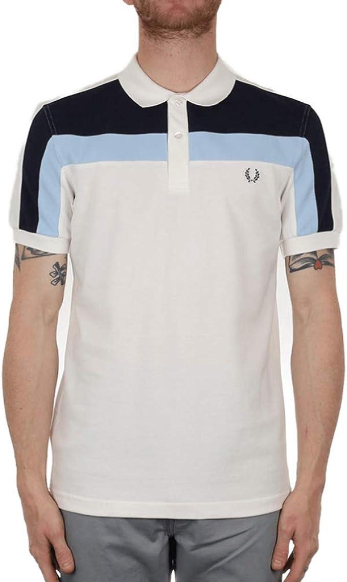 Fred Perry Hombres camisa de polo de bloque de color Blanco Como La Nieve L: Amazon.es: Ropa y accesorios