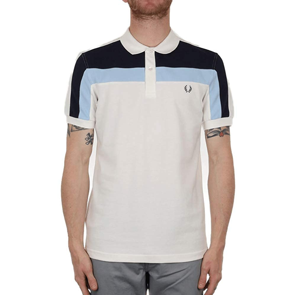 Fred Perry Hombres Camisa de Polo de Bloque de Color Blanco Como ...
