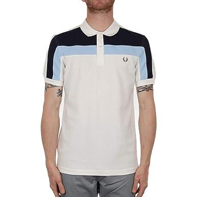 Fred Perry Hombres Camisa de Polo de Bloque de Color Blanco Como La Nieve M: Amazon.es: Ropa y accesorios
