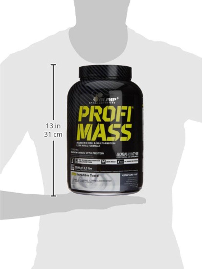 Olimp Sport Nutrition Profi Mass Ganador de Masa Muscular, Sabor Vainilla - 2500 gr: Amazon.es: Salud y cuidado personal