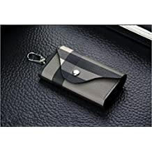 ETGtek 1PCS Men's Women' Leather Car Key Chain Ring Cases ID Card Holder Wallet Purse Gift High Quality
