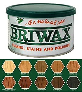 Briwax Original Muebles Wax 16oz–Color: Ébano, Modelo:, herramientas & hardware tienda de madera de ébano