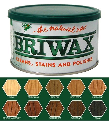 Briwax Mid Brown (previously Dark Oak) Furniture Wax Polish, Cleans, stains, and - Wax Polish Briwax