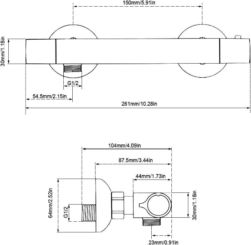 Duschthermostat Duscharmatur thermostat Mischbatterie Brausethermostat Thermostatventil Dusche