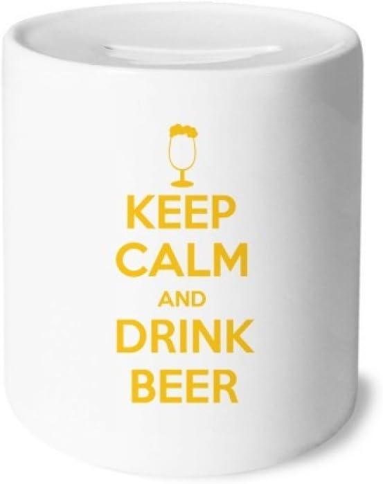 DIYthinker Cita Mantener la Calma y Beber Cerveza Amarillas Caja ...