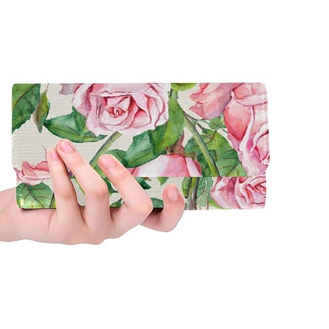 Amazon.com: Bolso de mano con diseño de flores rosas ...