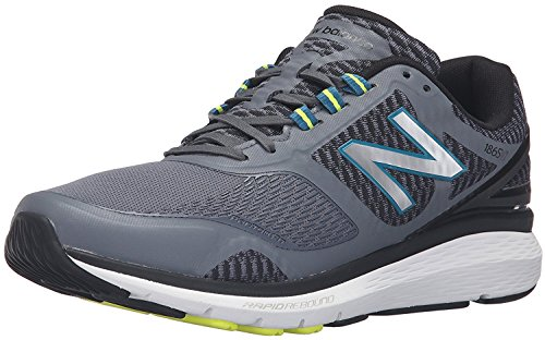 New Balance Mens MW1865v1 Walking Shoe, Gris/Negro, 45 EU/10.5 UK