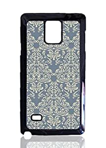 Cadet Retro Damask Pattern Custom Hard Plastic back Phones Case for Samsung Galaxy Note4 - Galaxy Note 4 Case Cover