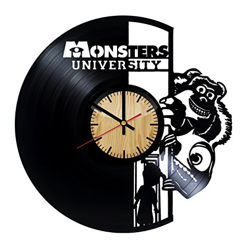 Home & Crafts Monsters University Design Vinyl Wall Clock -Handmade Gift for Any Occasion - Unique Birthday, Wedding, Anniversary, Wall Décor Ideas for Any Space
