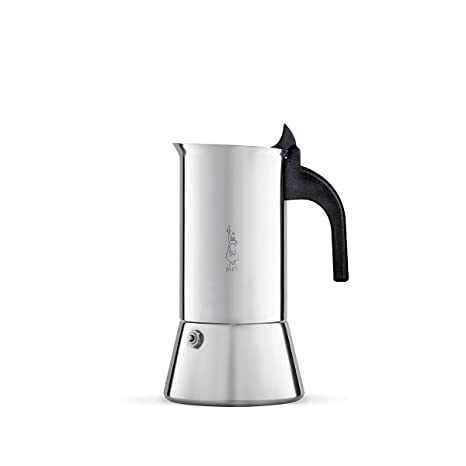 d1547b7e9bc0d0 Amazon.com: Bialetti Venus - Stove Top Espresso Maker - Stainless Steel  with Black Insulated Handle - 6 Cups: Stovetop Espresso Pots: Kitchen &  Dining