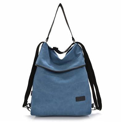 7edad14205af22 DcSpring Damen Handtasche Canvas Schultertasche Rucksack Tasche Stoff  Vintage Retro Umhängetasche Groß Shopper Multifunktionale (Blau):  Amazon.de: Schuhe & ...