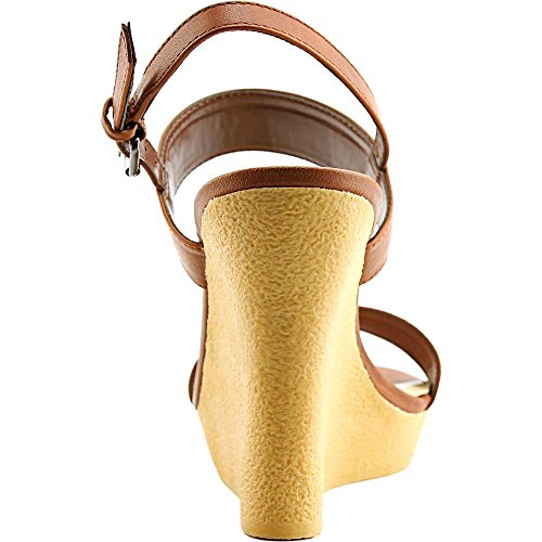 Athena Alexander Donna Beryl Open Toe Casual Sandali Con Plateau Cognac