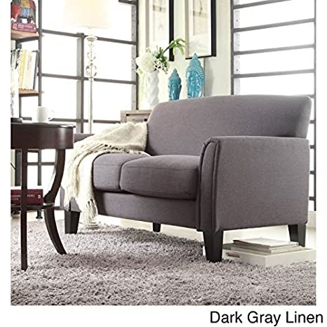 Surprising Amazon Com Modern Loveseat Many Variations Leather Or Linen Creativecarmelina Interior Chair Design Creativecarmelinacom