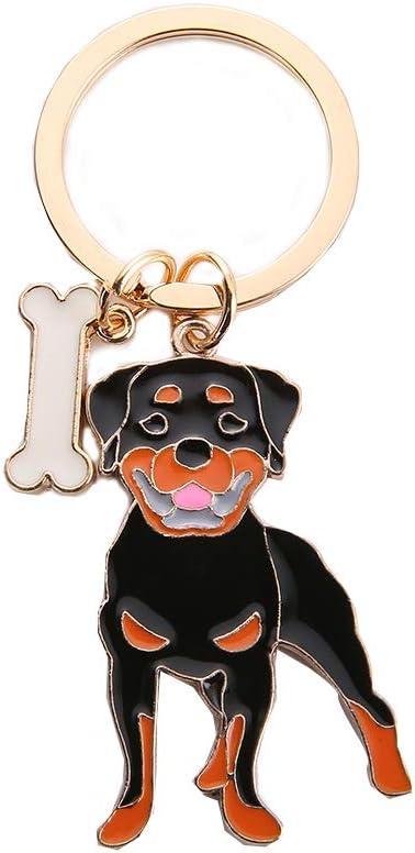 KEY RING ROTTWEILER DOG KEYRING NEW