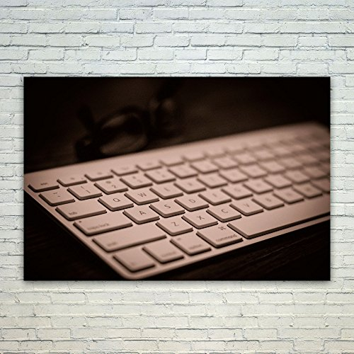 Price comparison product image Westlake Art Apple Keyboard - Poster Print Wall Art - By Modern Picture Photography Home Decor Office Birthday Gift - Unframed 12x18 Inch (a1723z)