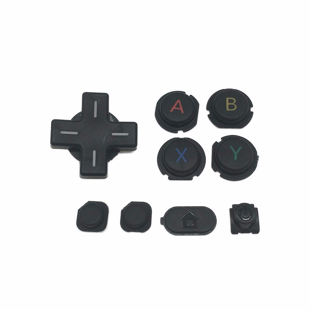 (Black) Replacement L R ZR ZL Button Full Buttons Kit D Pad ABXY Home Power for Nintendo New 3DS XL New 3DS LL