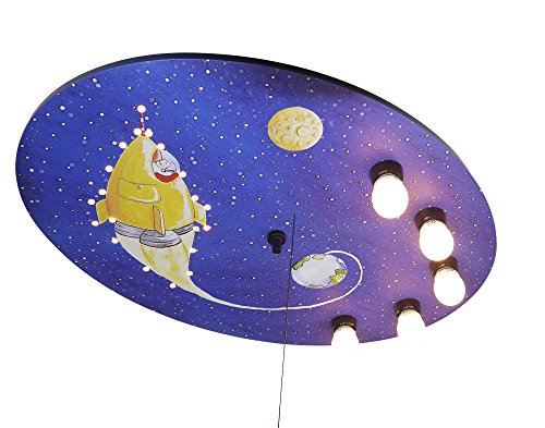 Niermann Standby Ceiling LED Lamp, Rocket, X-Large by Niermann Standby