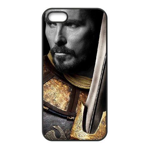 Exodus Gods And Kings 2 coque iPhone 5 5S cellulaire cas coque de téléphone cas téléphone cellulaire noir couvercle EOKXLLNCD23616