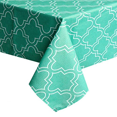 ColorBird Elegant Moroccan Tablecloth Waterproof Spillproof Polyester Fabric Table Cover for Kitchen Dinning Tabletop Decoration (Rectangle/Oblong, 60 x 84 Inch, -