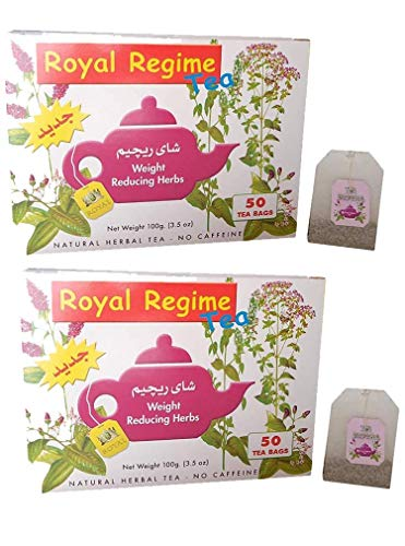 s Weight Loss Reducing Herbal Slimming Herbs Detox Diet Morning & Evening Perfect Overweight Herbs Drink (2 Boxes / 100 Tea Bags) ()