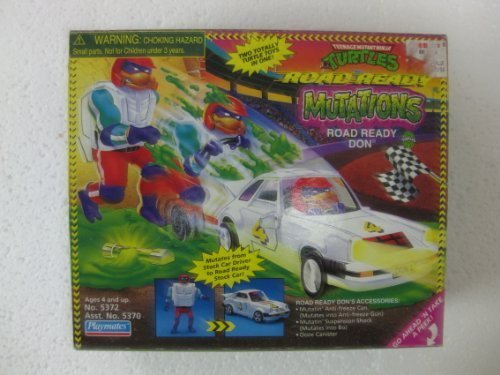 Teenage Mutant Ninja Turtles Road Ready Mutations Don Action Figure That Transforms Into A Stock Car Driver From Playmates 1998]()