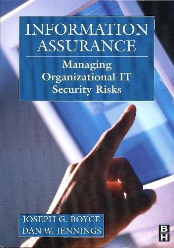 Information Assurance  Managing Organizational It Security Risks