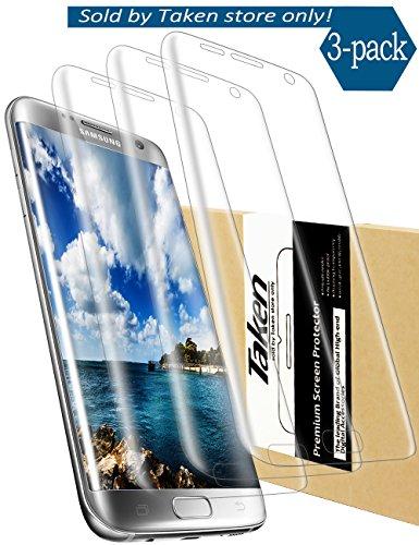 Taken Galaxy S7 Edge Schutzfolie - 3D Full Coverage HD Klare PET Displayschutzfolie Schutzfolien (3-Stück)