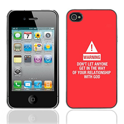 DREAMCASE Citation de Bible Coque de Protection Image Rigide Etui solide Housse T¨¦l¨¦phone Case Pour APPLE IPHONE 4 / 4S - RELATIONSHIP WITH GOD