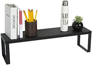 JACKCUBE Design Monitor Riser Desktop Computer Laptop Stand Desk Organizer Holder for Home Office Table (Black)- MK280C