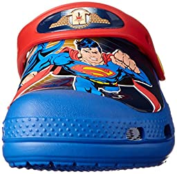 Crocs 15864 Justice League Clog (Toddler/Little Kid/Big Kid),Sea Blue,4 M US Toddler