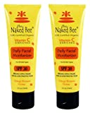 Burts Bees Sunscreen THE Naked BEE - 2.5 Oz Vitamin C Facial Moisturizer SPF 30 -Orange Blossom - 2 Pack
