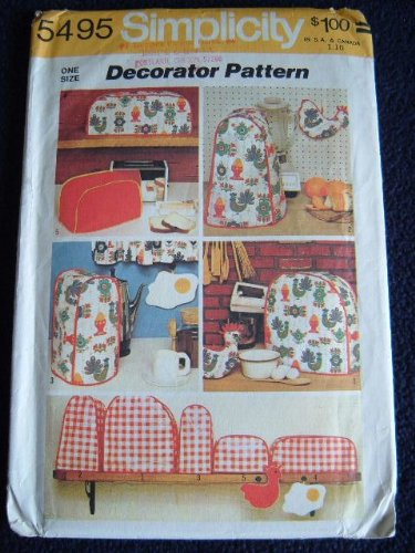 SIMPLICITY DECORATOR PATTERN 5495 - VINTAGE 1972 APPLIANCE COVER PATTERN