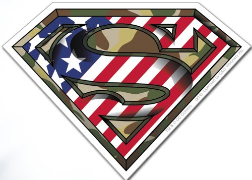 Licenses Products DC Comics Superman Camo Logo Sticker