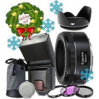Canon EF 50mm f/1.8 STM Lens For Canon T6s T6i 7D Mark II 80D 70D 6D 5D Mark III Mark IV 5DS 5DS R DSLR Cameras