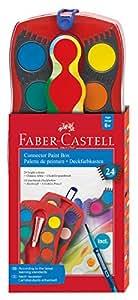 Faber-Castell - Estuche de 24 acuarelas Connector, pincel  Clic & Go, multicolor (125029)
