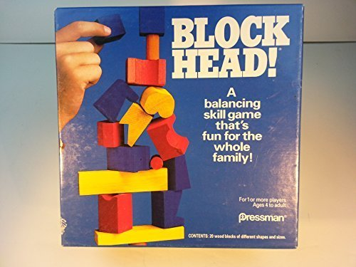 Pressman 1992 Block Head Blockhead Game (1992 Classic Game)