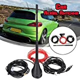 Relax4All - DAB +FM/AM Car Radio Antenna Aerial with Amplifier Roof Mount Active SMB Female