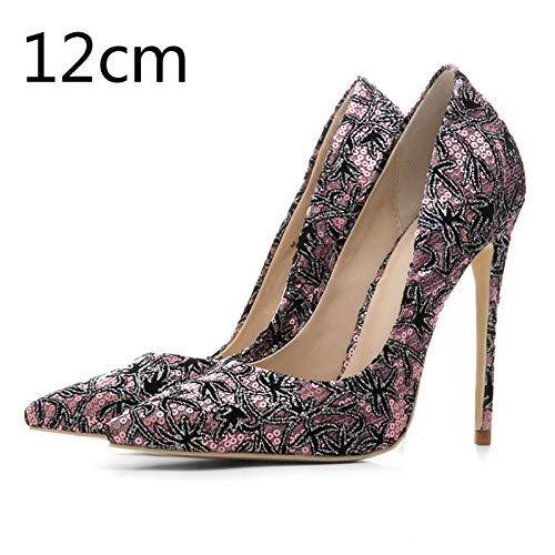 Acentuado Alto Partido El Del Tamaño Bombas Delgadas 33 Shoes Pie Dedo Pink 12cm Ocasional Mujer Slip Hoesczs Más Colors Mixed on De Mujeres 45 Nuevas Heel Tacón TxwRqP
