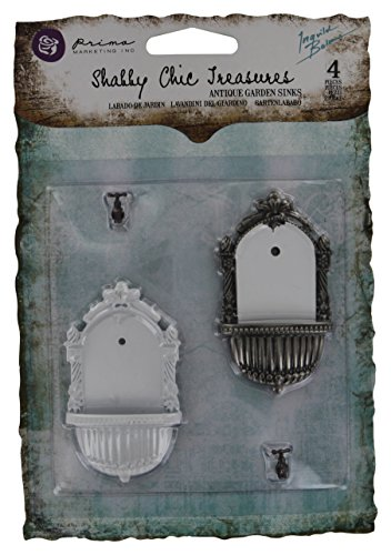 Prima Marketing 366765 Shabby Chic Treasures Metal-Antique Garden Sinks 2-Pack