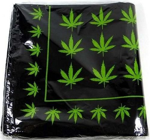 Marijuana Leaves Leaf Pot Weed Bandana MC Club Biker Cotton 22