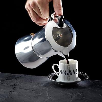Kitchen Craft Italian Collection - Cafetera (6 Tazas, Tapa Transparente, 300 ml): Amazon.es: Hogar