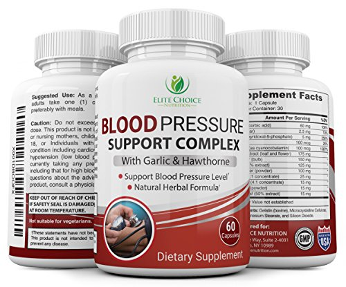 New! Natural Blood Pressure Support Supplement with Proven Potent Ingredients such as Garlic, Hawthorn Berry Extract, Olive Leaf and More to Reduce Blood Pressure Naturally