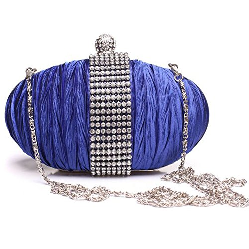 SERA CON DA MANO A CLUTCH Multicolore DA BAG EVENING DONNA Blu SCRITTA ABITI STRASS ® PER BORSA Royal FI9 x0qf1wBx