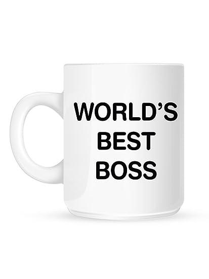 Amazon.com: World39;s Best Boss Mug White: Kitchen & Dining