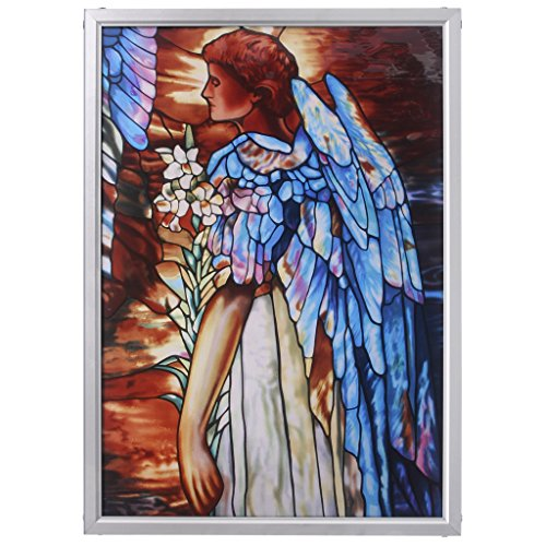 Stained Glass Panel - The Angel of Light Stained Glass Window Hangings - Art Glass Window - Angel Glass Stained