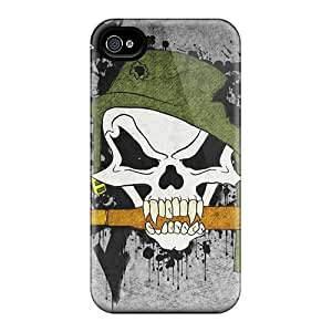 Durable Defender Cases For Iphone 4/4s Tpu Covers(metal Mulisha)