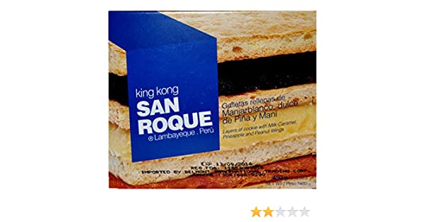 Amazon.com : King Kong San Roque 1 libra Piña, Maní y Manjarblanco : Grocery & Gourmet Food